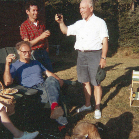 Cal Lowell, Dan Hoffman, RGE cocktails Undercliff 1970s