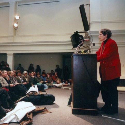 Maxine Kumin Nov 96, Donald Hall et all front row