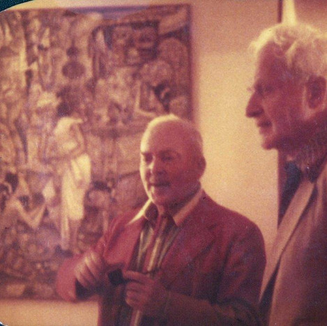 RGE and Stephen Spender 1976 U of Florida