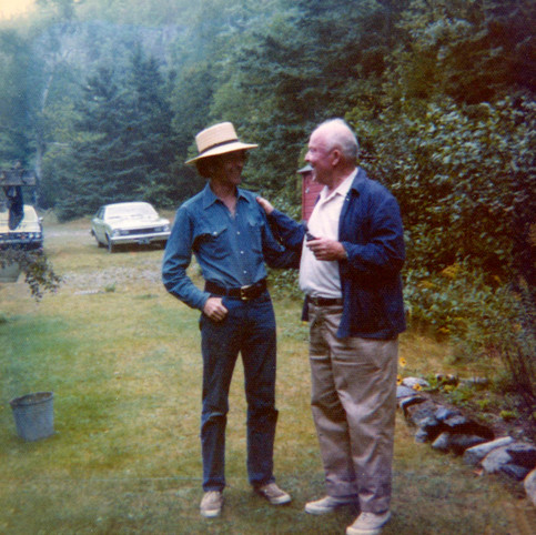 Dan Hoffman and RGE outside Undercliff 1970s