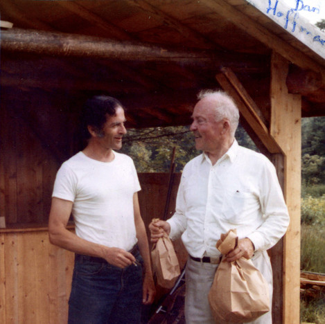 Dan Hoffman and RGE shopping at Eliot Coleman's 1970s