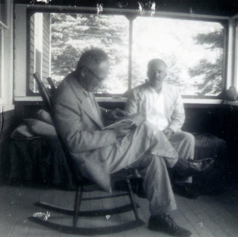 Cal Lowell and RGE at Undercliff Farm 1960