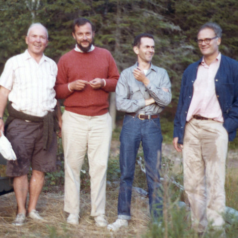 Annual Summer Poetic Quartet RGE, Phil Booth, Dan Hoffman, Cal Lowell at Undercliff 1982