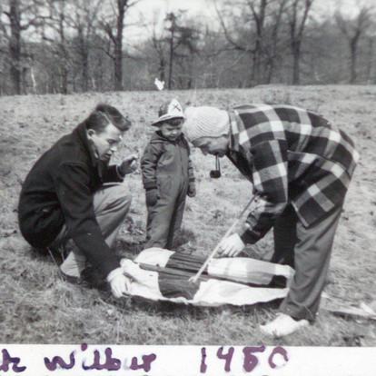 Richard Wilbur and RGE 1950 with Navy kites