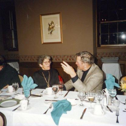 Ginsberg, Kinnel, Kumin, RGE, Hoffman, Hall, Booth (Parini, back)