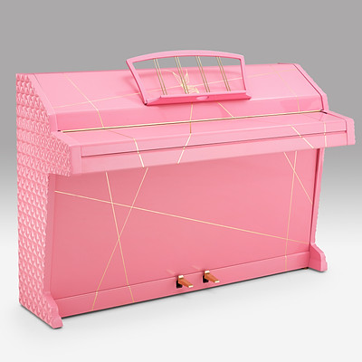 "Geometric Pink Piano - ""Face"""