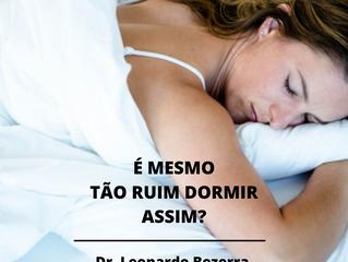 Qual a melhor posição para dormir quando se tem dores na coluna?   Fisioterapeuta Leonardo   Fortal