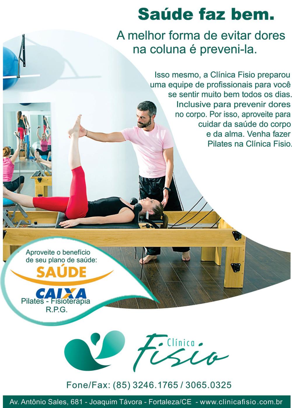 Panfleto caixa fisioterapia Pilates