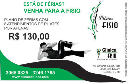Promoção de férias para pilates Clínica Fisio em Fortaleza