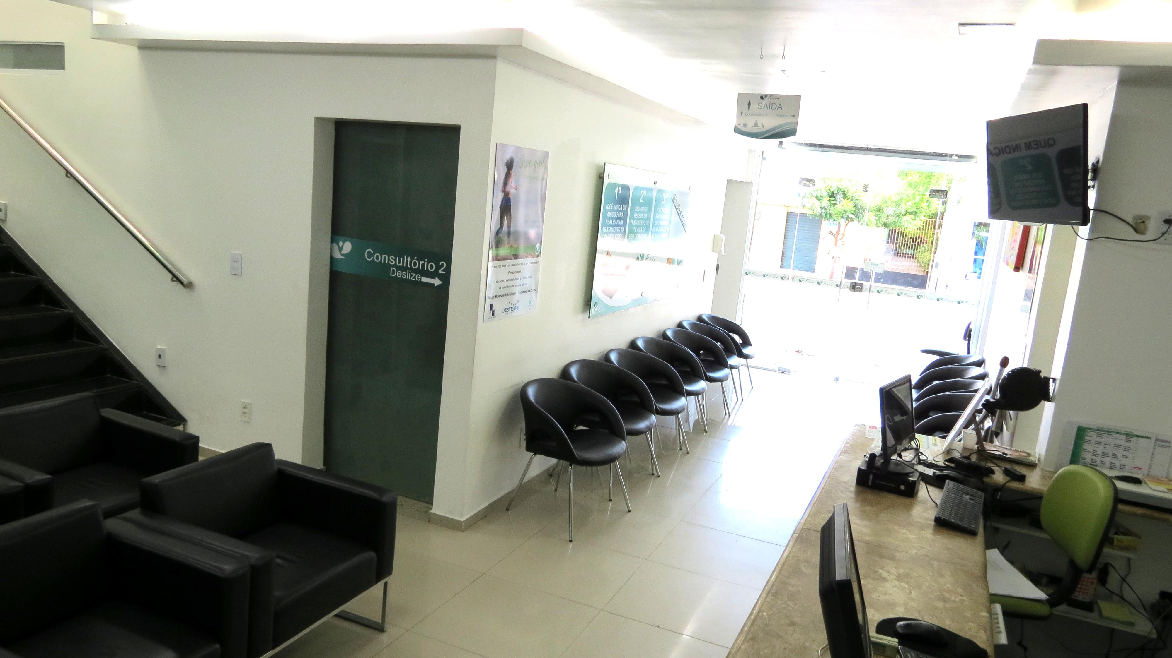 Recepção - Clínica Fisio Fortaleza
