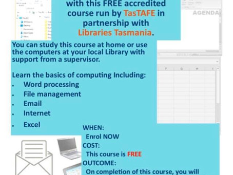 Free things at Huonville Library - computer education & virtual reality experiences