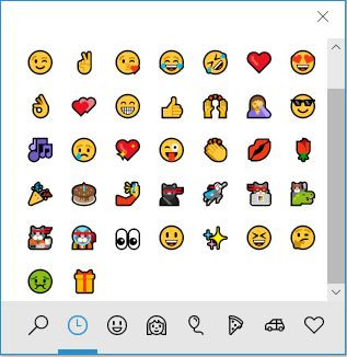 Easier emoji insertion with latest versions of Windows 10