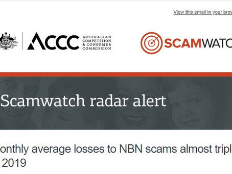 """""""NBN"""" scams costing people even more in 2019"""