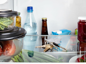 Put your keys in the fridge - it's a security mnemonic...