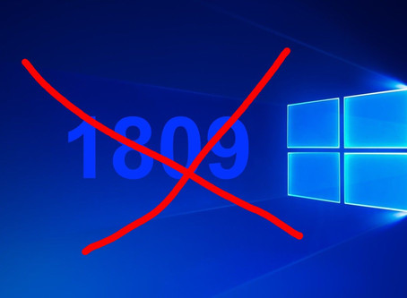 Don't update to Windows 10 Version 1809 October Release