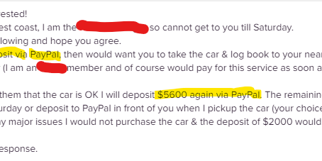 Part 2: Scammers on Gumtree (and other selling platforms of course)