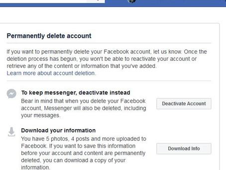 No mucking around, completely delete Facebook