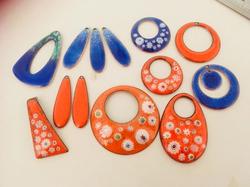 clare design orange blue