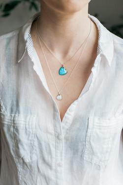 clare design heart necklaces