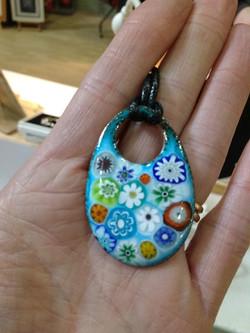 Clare Design millefiori pendant