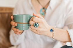 Clare Design enamel rings