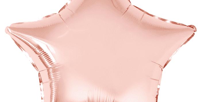 Звезда 46 см Розовое золото