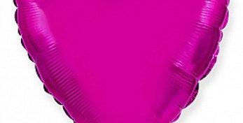 Сердце 46 см Пурпурный