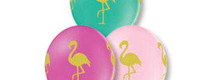 Шар Шелкография Фламинго