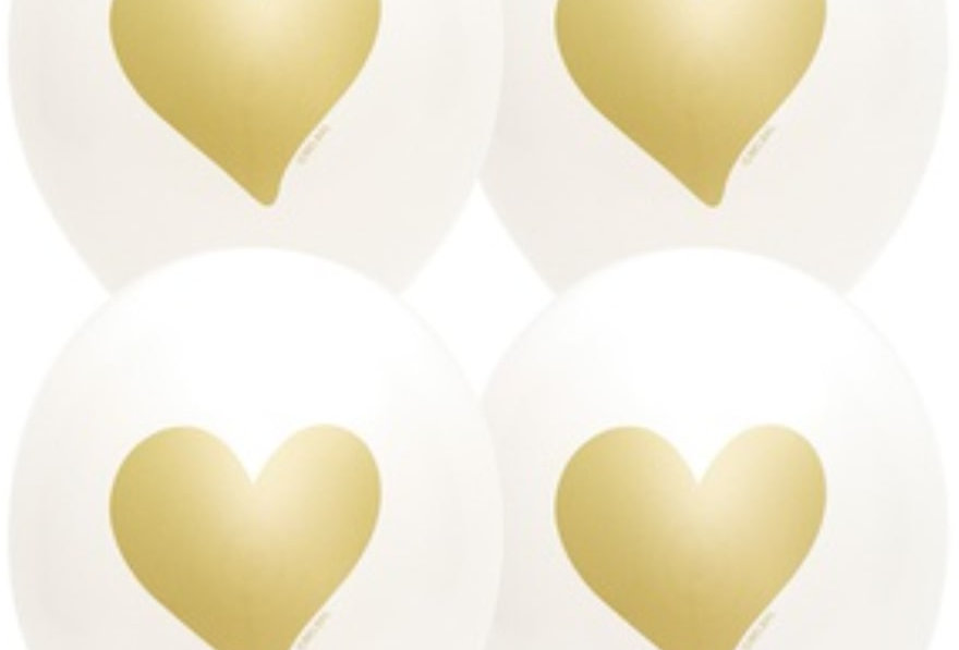 Шар Сердце Золотое