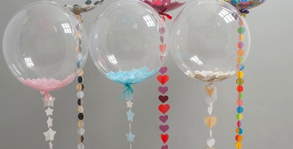 Шар Bubble (65см) + Хвост