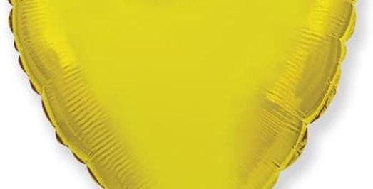 Сердце 46 см Золотое