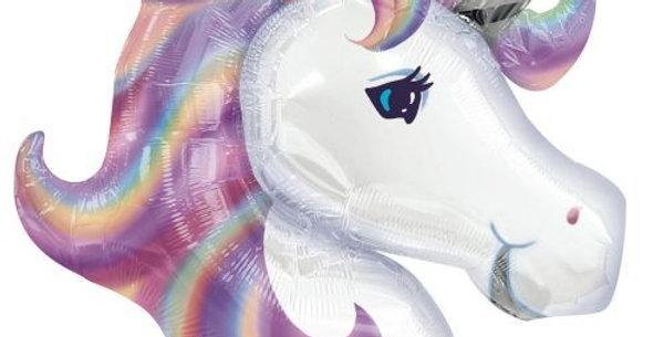 Единорог Фиолетовый голова, 81 см