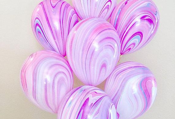 Шар Агат розовый