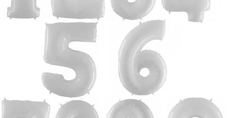 Цифра Белая 102 см