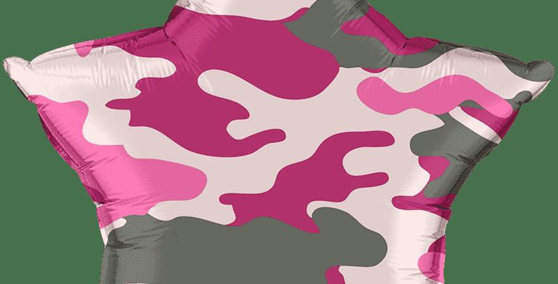 Шар Камуфляж Розовый