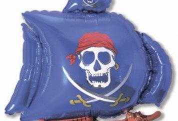 Шар Фигура Пиратский Корабль Синий