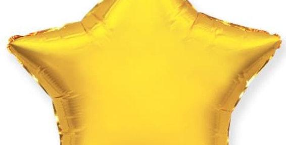 Звезда 46 см Золотая