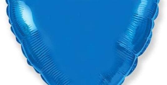 Сердце 46 см Синие