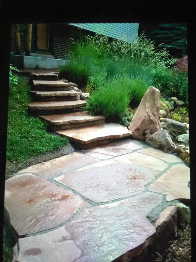Flagstone Stairs and Landscaping