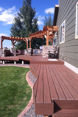 Custom Rounded Curvy Deck and Arbor