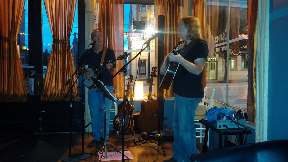 jim pelz and brandt smith at the listing loon in northside