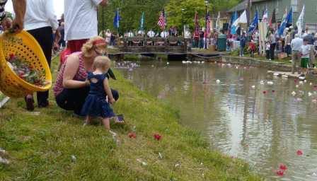Memorial service in Metamora Indiana