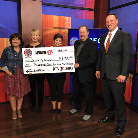 Beautify Decatur Coalition Receives Funds from WAND-TV's 'J.C.'s 3-Degree Guarantee'
