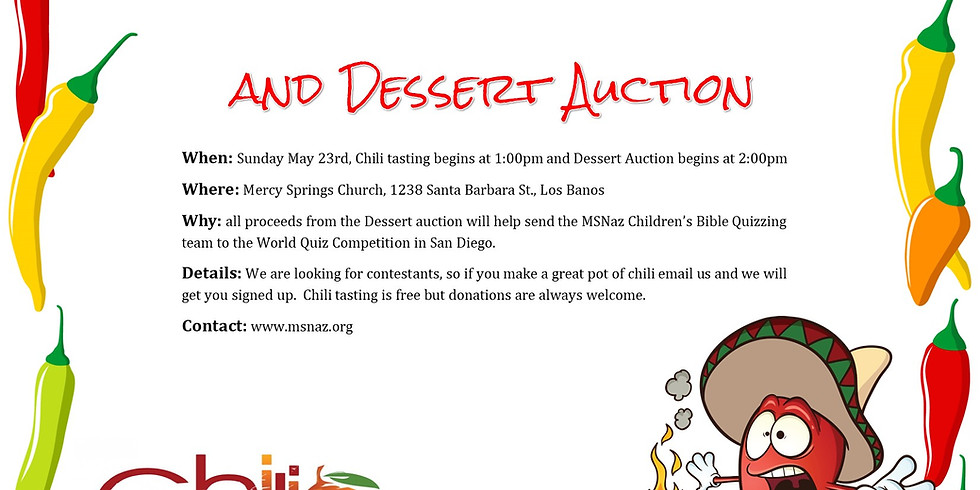 Tongues of Fire - Chili Cookoff and Dessert Auction