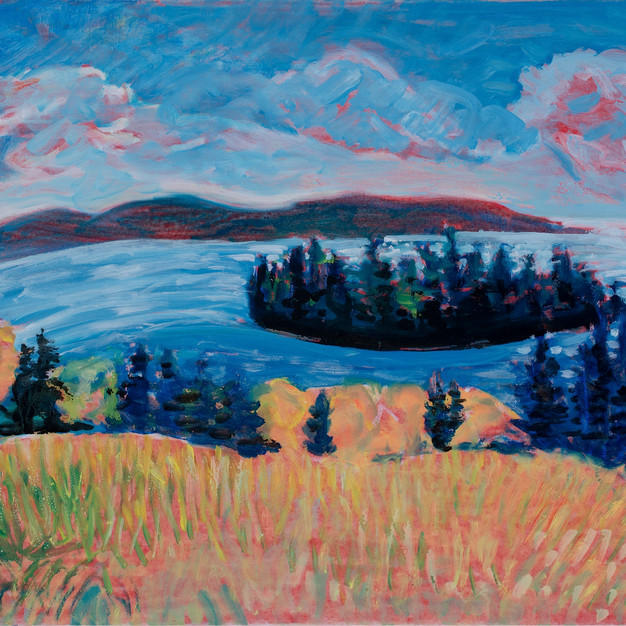 Huthin's Island, Fall Field