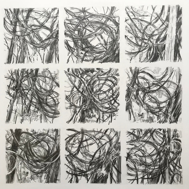 Entangled Grid (Study for Thicket)