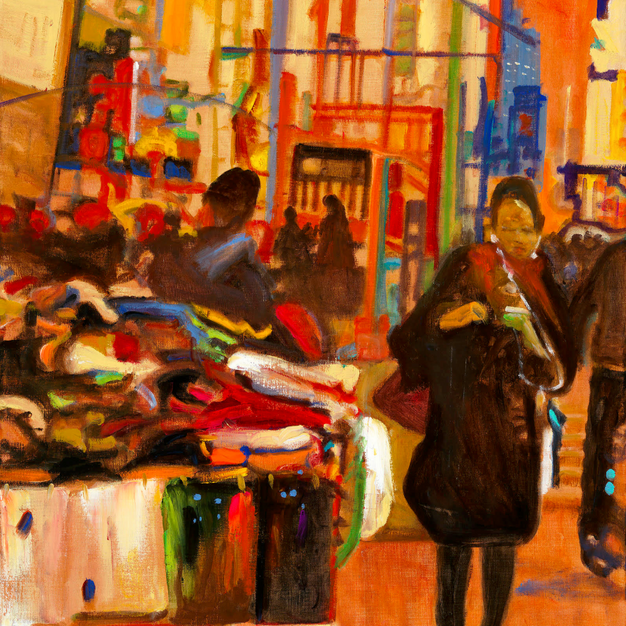 West 50th St No. 1, Pushcarts, Cellphones and Neon