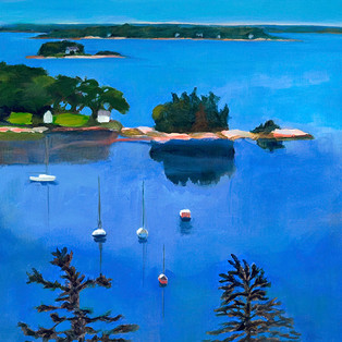 "Blue Sea, Freeport 16""x16"" $550."