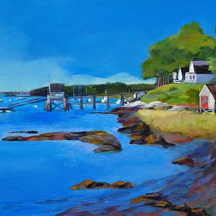 """Falmouth Foreside 24""""x30""""  $900."""