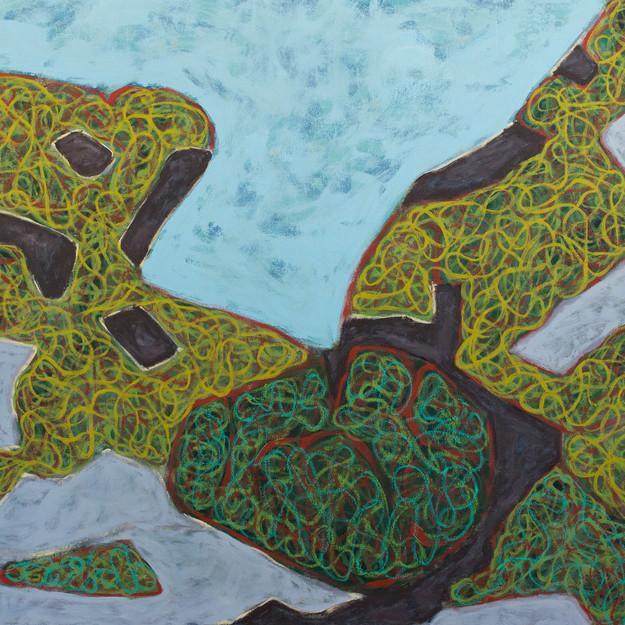 Island Geometry, Monhegan: Rockweed No. 6